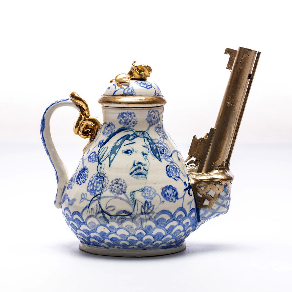 Tupac and Dr. Martin Luther King Jr. Teapot, 2018