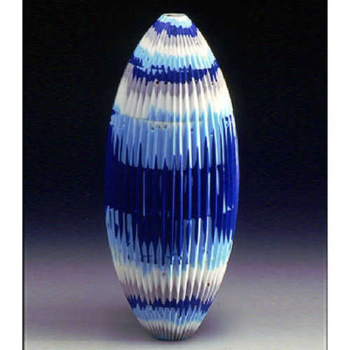 Claudio Tiozzo, glass artist at Wexler Gallery in Philadelphia, PA.