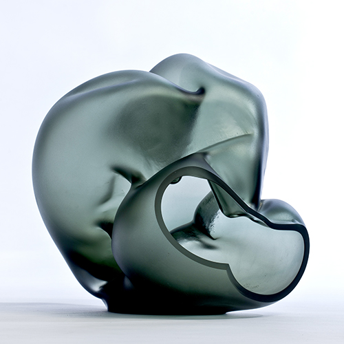 Marvin Lipofsky, glass artist at Wexler Gallery in Philadlephia, PA.