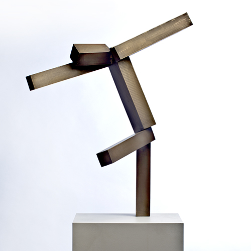 Joel Shapiro, bronze sculpture at Wexler Gallery in Philadelphia, PA.