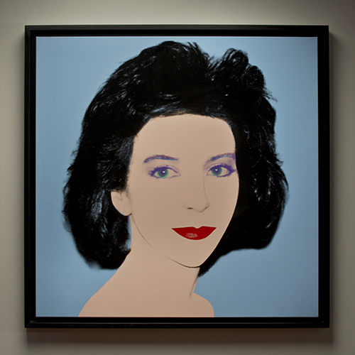 Andy Warhol, iconic pop artist at Wexler Gallery in Philadelphia, PA.