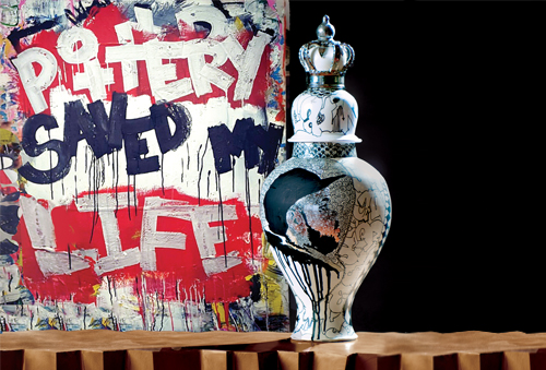 Roberto Lugo, ceramic artist and ghetto potter represented by Wexler Gallery in Philadelphia, PA